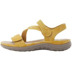 Rieker Damen Sandalen Sandaletten Outdoorsandalen V8873-68, Größe:41 EU, Farbe:Gelb