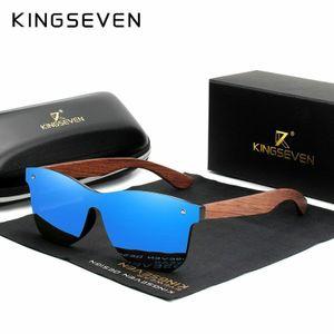 Herren Holz Bambus Sonnenbrille Natural Polarized Fashion Sonnenbrille KINGSEVEN