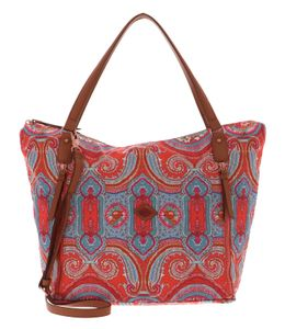 Oilily City Rose Paisley Shopper Hot Coral