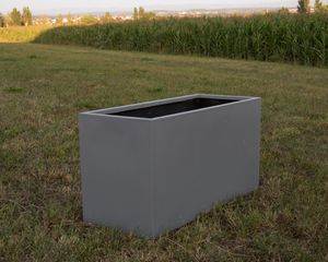 Pflanztrog, Blumentrog Fiberglas 80x30x40cm grau