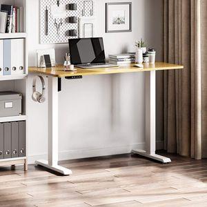 Elektrisch höhenverstellbarer Schreibtisch mit Tischplatte 120 x 60 Ergonomischer Steh-Sitz Tisch mit Memory Funktion Reduziert Rückenschmerzen vor & Macht produktiver