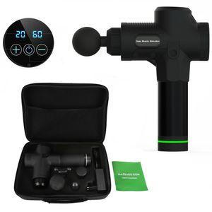 V-Calm® Elektrisch Massagepistole 20 Geschwindigkeitsbereiche Muscle Massage Gun Massagegerät für Nacken Schulter Rücken Handmassagegerä