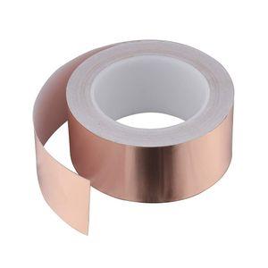 Kupferband Kupferfolie Klebeband Selbstklebend Abschirm Schneckenband Anti-Schneckenband Kupfer Schneckenzaun 25M x 50mm