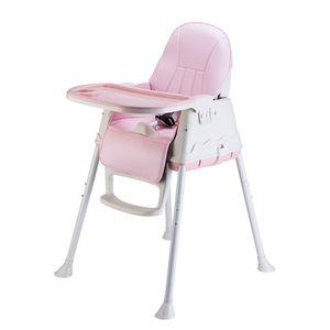 Hochstuhl Kinderhochstuhl Kinderstuhl Babystuhl Verstellbar Kombihochstuhl Treppenhochstuhl ( Rosa )