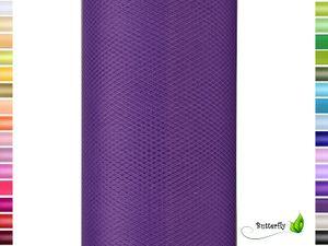 9m Rolle Tüll 30cm, Farbauswahl:lila / purpur 465