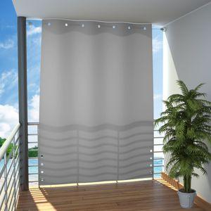 Seitlicher Balkonsichtschutz (Grau) 140 x 230 cm
