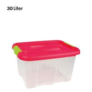 Box mit Deckel, 30 Liter, 26 x 49 x 39 cm