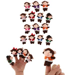 14 Stücke Affen Familien Plüschtiere Finger Puppen Fingerpuppe Lernspielzeug für Kinder