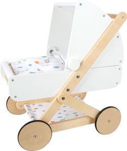 """small foot 11914 Puppenwagen """"Little Button"""" aus Holz, multifunktionaler und hochwertiger Puppenkinderwagen, ab 3 Jahren"""