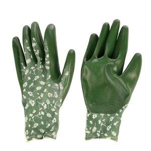 Rivanto® Polyester-Nitril Garten Handschuhe Größe M, Pflanz- und Bodenhandschuhe für Garten und Beet, Arbeitshandschuhe, atmungsaktiv