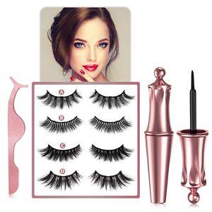 Magnetische Wimpern Eyeliner, 3D Magnet Wimpern und Magnetischer Eyeliner Set, Weich,natürlich und bequem, für Verschiedene Anlässe Geeignet und Bringt Ihnen Mehr Schönheit