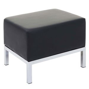 Ottomane HWC-C19, Modular-Sofa, erweiterbar Kunstleder  schwarz