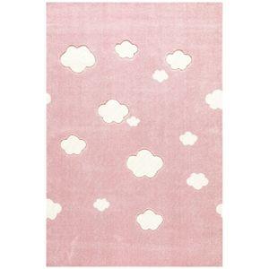 Livone Kinderteppich Happy AUF WOLKE 7 rosa/weiss 120x180 cm