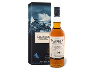 Talisker 10 Jahre Single Malt Scotch Whisky in Geschenkpackung | 45,8 % vol | 0,7 l