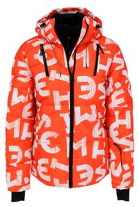CHIEMSEE Herren Ski Jacke Regular Fit AOP Wasserdicht, Größe:S, Chiemsee Farben:Orange/White 2110