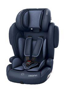Osann Kindersitz Flux Navy Melange mit ISOFIX - 9 bis 36 kg (8 Monate bis 12 Jahre) - blau