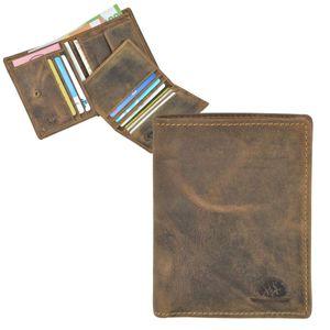 Greenburry GeldbörseHerren braun Leder Portemonnaie Hochformat mit herausnehmbarem Ausweisetui 1701M-25
