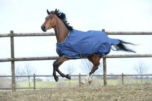 BUCAS Smartex Rain Pferdedecke Light, stay-dry, blau, 145 cm