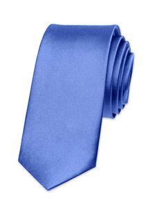 Krawatte Herren Hochzeit Konfirmation Slim Tie Retro Business Schlips schmal Autiga® kornblumenblau