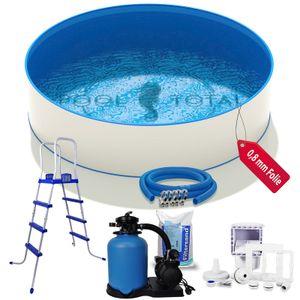 Pool-Set KOMFORT+ Ø 4,00 x 1,20m, 0,6mm Stahl, 0,8mm Folie mit Keilbiese