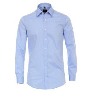 Größe 43 Venti Hemd Hellblau Popeline Uni 72er extra langer Arm Body Fit Extra Schmal Kentkragen 100% Baumwolle Bügelleicht