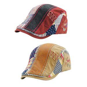 2pcs Retro Schirmmütze Zeitungsjunge Cap Baskenmütze Flat Golf Gatsby Cabbie Driving Hats