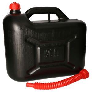 KOTARBAU® Benzinkanister aus Kunststoff mit Ausgießer für alle Kraftstoffarten 20L