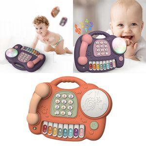 Lern ressourcen lehren telefon simulation telefon kunststoff für kinder baby Farbe Orange