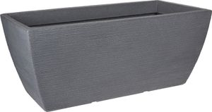 Pflanzkübel - ECKIG - 80x40 cm - Farbe: grau