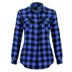 Mixfeer Laessige Loose Plaid Roll Up Sleeve Button-Down-Shirt