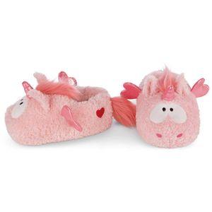 Nici Plüsch Hausschuhe Einhorn Merry Heart | 2 Größen:  34-41 , Größe:Größe 34-37