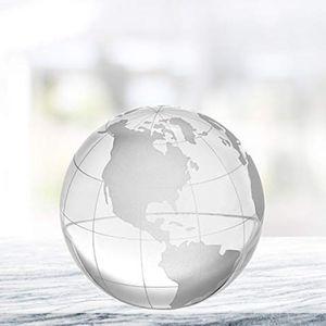 Kristallkugel Kristall Globus Erdkugel Briefbeschwerer Paperweight Kalligraphie Schreiben Zubehör