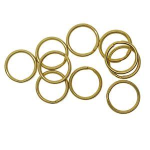 10 Stück Messing Schlüsselanhänger Ringe Schlüsselringe Keyring 20 Mm