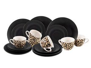 Studio Tavola Kaffeeservice Leopard 18-teilig