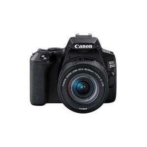 Canon EOS 250D + EF-S 18-55mm f/4-5.6 IS STM, 24,1 MP, 6000 x 4000 Pixel, CMOS, 4K Ultra HD, Touchscreen, Schwarz