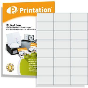 Printation Universal Etiketten 2400 Stück 70 x 37 mm weiß selbstklebend - 100 DIN A4 Bogen á 3x8 70x37 Labels bedruckbar - 3474 4453 4615 LA133 FBA