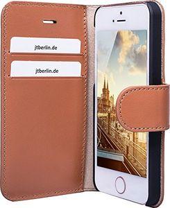 JT BERLIN Kreuzberg, Folio, Apple, iPhone SE (2016)/5/5S, 11,9 cm (4.7 Zoll), Braun