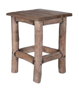Teak Hocker ALTES HOLZ - Blumenhocker massiv 11300721