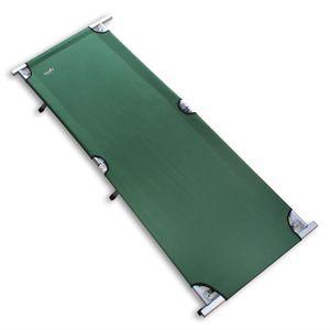 Campingbett aus Aluminium – stabiles und leichtes Feldbett mit einer Tragkraft von bis zu 150 kg – faltbare Campingliege mit Tragetasche – Größe wählbar, Größe:Standard 190 x 64 x 42 cm