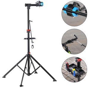 Monzana Fahrrad Montageständer bis 30kg klappbar höhenverstellbar Mountainbike Fahrradständer Teleskop Montageständer