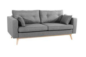 Max Winzer Tomme Sofa 3-Sitzer (2-geteilt) - Farbe: grau - Maße: 200 cm x 90 cm x 85 cm; 30671-3880-1645216-F01