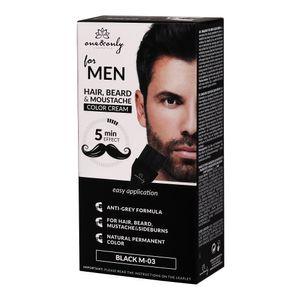 ONE&ONLY Bartfarbe für Bart und Schnurrbart Schwarz M-03