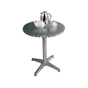 Bolero Tisch Aluminium, rund 80 cm