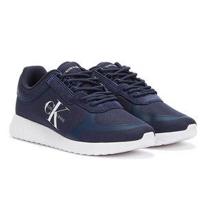 Calvin Klein Jeans Runner Lace Up Sneakers Eva Herren Marine Turnschuhe