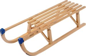 Davos Holzschlitten 100cm Rodel Holz massiv Schlitten Klappschlitten 100kg
