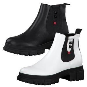 s.Oliver Damen Stiefeletten Chelsea Boots Plateau 5-25412-25, Größe:40 EU, Farbe:Weiß