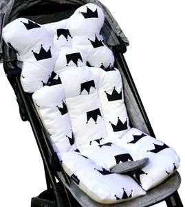 Universal Kinderwagen Sitzauflage Baumwolle wasserdichte atmungsaktiv Sitzeinlage für Baby Kinderwagen Buggy 35x78 cm (Weiss)