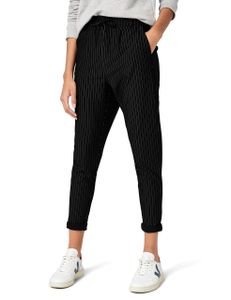 ONLY Damen Hose Onlpoptrash Pinstripe Pant blau schwarz, Farbe:Schwarz, Weite/Länge:XL/30