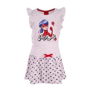 Miraculous Ladybug Tikki Sommerkleid Kleid Grau Größe 128