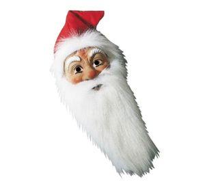 Hartplastik Maske Nikolaus Weihnachtsmann mit Bart und Mütze